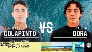 Griffin Colapinto vs. Yago Dora - Round Two, Heat 7 - Margaret River Pro 2018