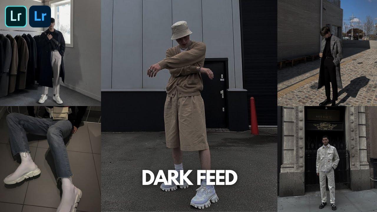 Dark Feed @jpbdeleon Preset - Lightroom Mobile Aesthetic Dark Blogger Preset Free Dng Xmp