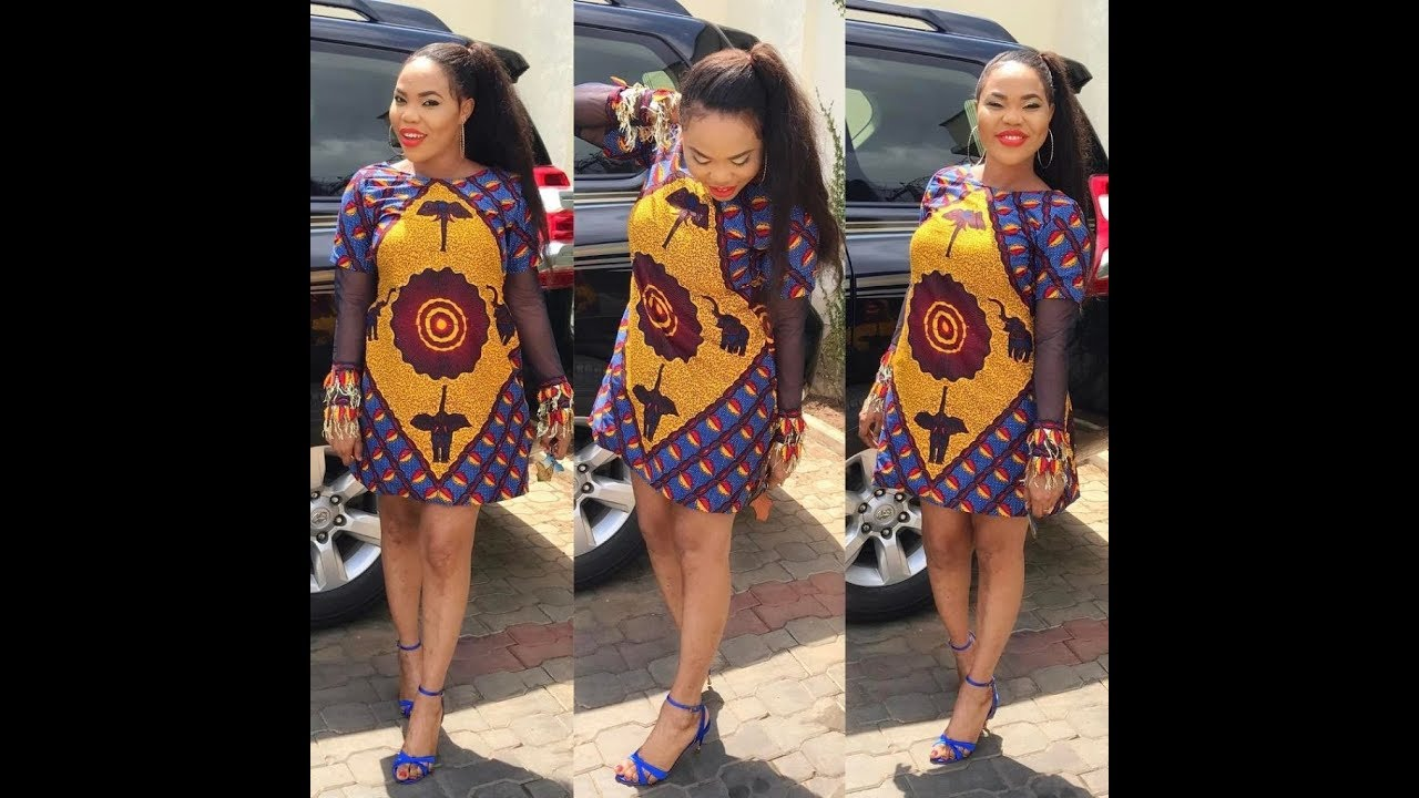 Ankara Short Gown Styles For African Ladies 2018 Collection - Ankara ...