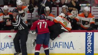 Oshie sends Gudas into Flyers bench for early line change