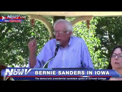 FNN: Bernie Sanders Speaks at Grinnell College in Iowa
