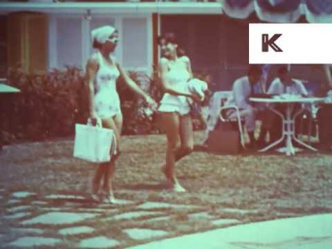 1950s Caracas, Venezuela, City Streets, Hotel, Pool