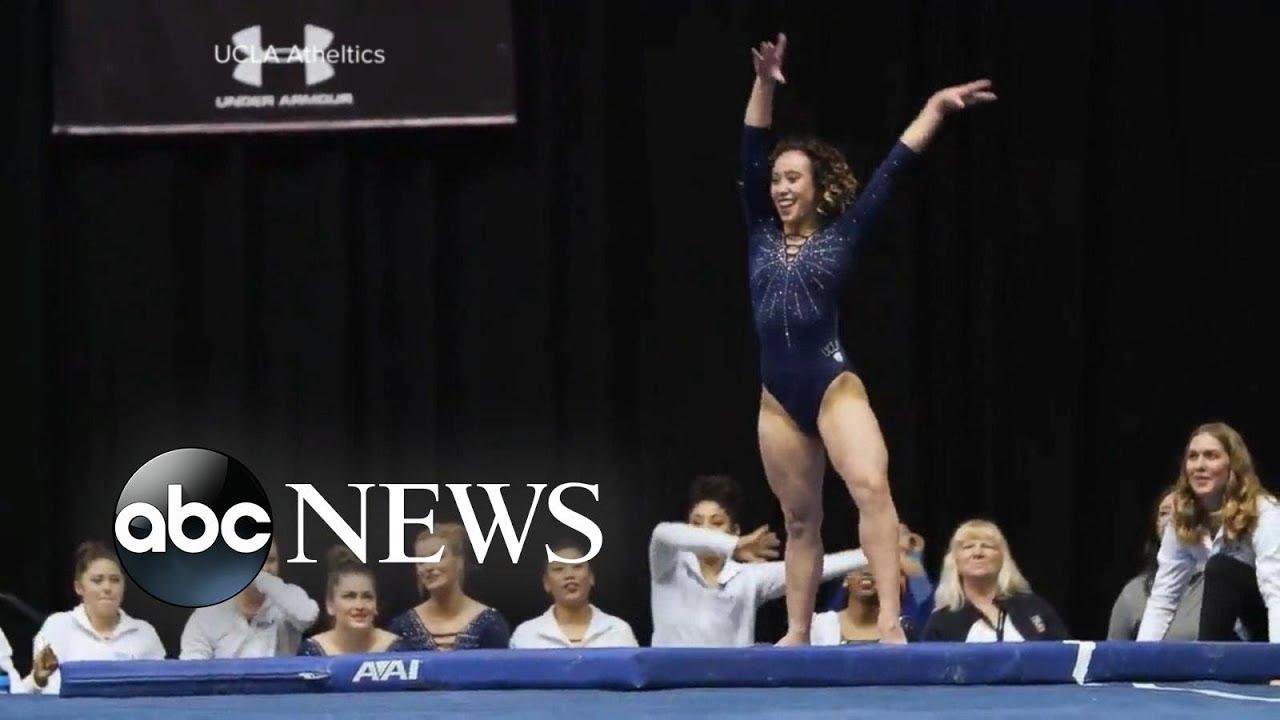 Ucla Gymnast S Entertaining Floor Routine Youtube