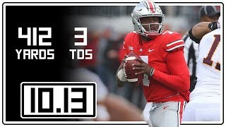 Dwayne Haskins Full Highlights Ohio State vs Minnesota || 10.13.18 || 412 Yards, 3 TDs