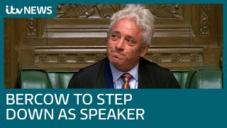 John Bercow to stand down as Commons Speaker and as an MP   ITV News