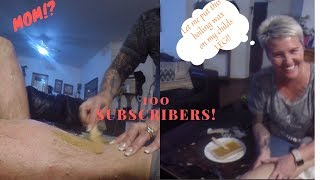 100 Subscriber Milestone Special!!(Legs Waxing) ft. Mommy Shancy Cake