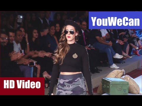 Hazel Keech walks the ramp for boyfriend Yuvraj Singh's fashion brand YouWeCan.