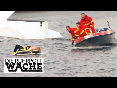 An Surfbretter gebunden: Gefangen auf dem Wasser   Die Ruhrpottwache   SAT.1 TV