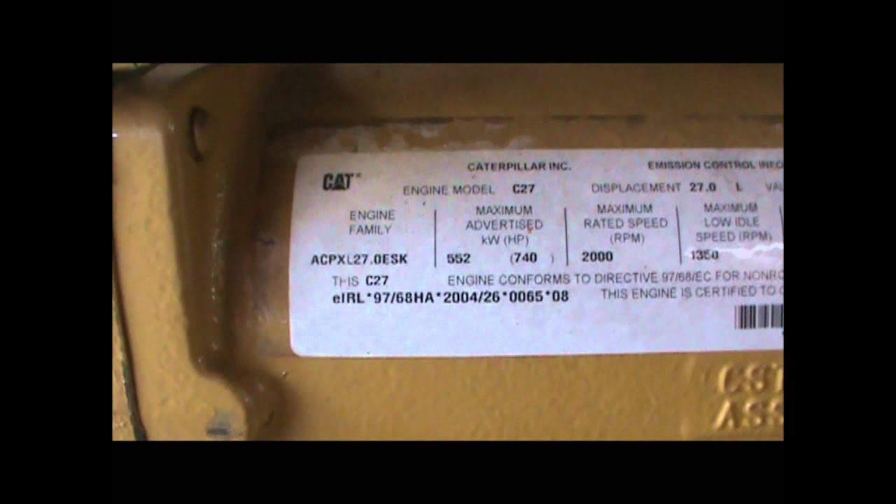 Caterpillar C27 Acert 579hp Rpmsel Engine