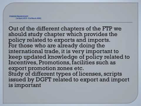 5 8 FOREIGN TRADE POLICY 2015 2020