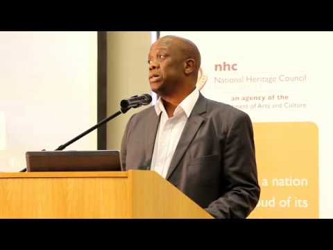 Adv. Sonwabile Mancotywa at the Early African Intellectuals Lecture.