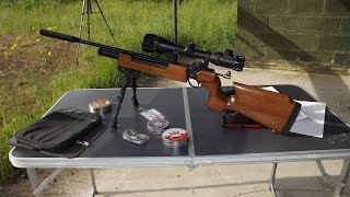 107 Yard extreme bench rest shooting with Sub 12 ft Lbs Air Rifle
