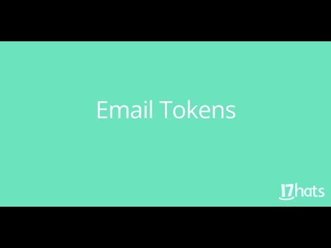 Email Tokens -