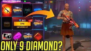 😱ONLY 9 DIAMOND? TRY MY LUCK NEW COBRA MP40/😱LUCK ROYAL NEW MP40/😱GARENA FREE FIRE NEW FADED WHEEL