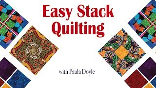 How to Piece Easy Stack Quilt Blocks