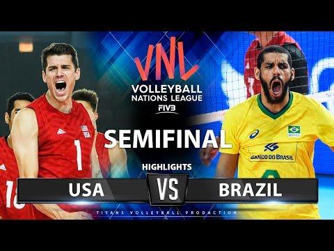 USA Vs Brazil | SEMIFINAL | Highlights | Men's VNL 2019