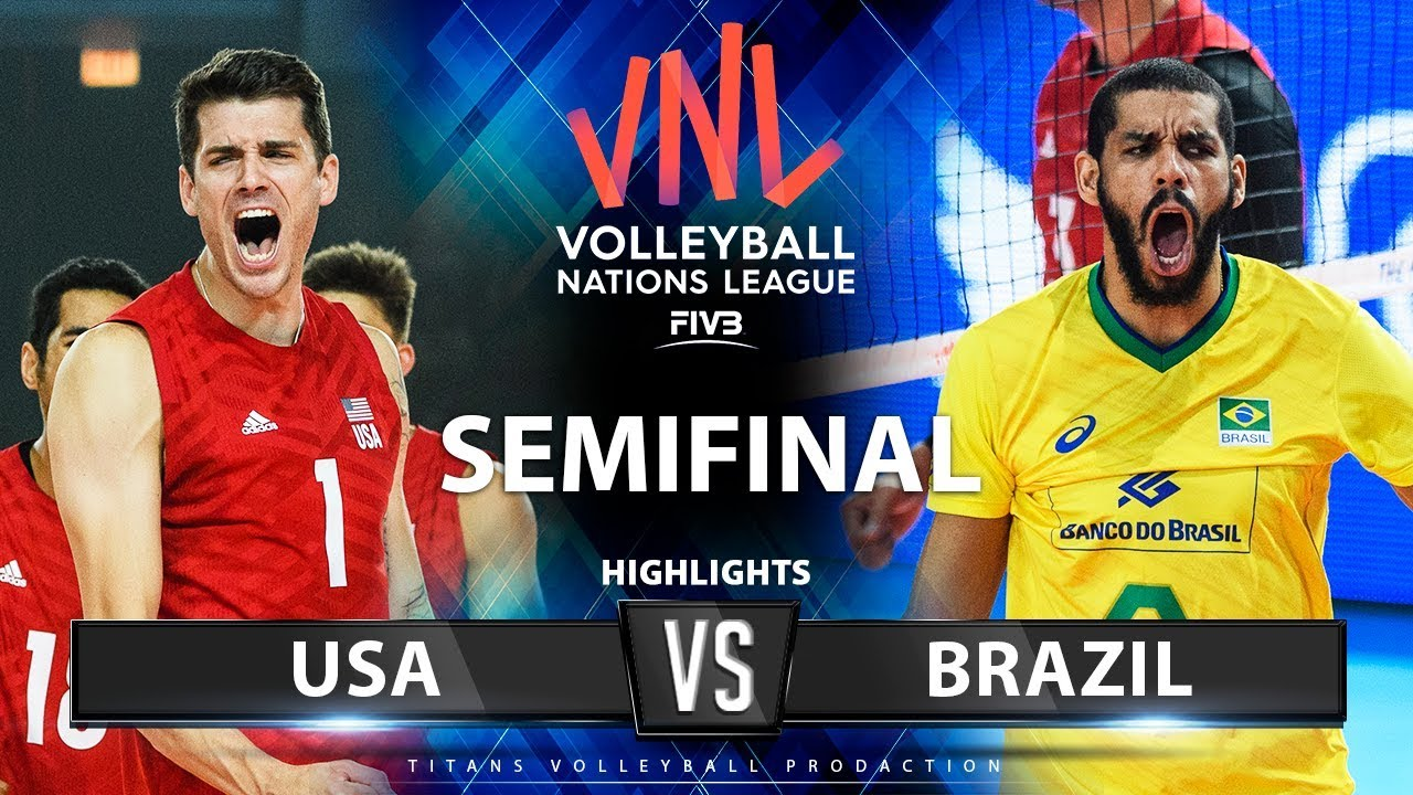 Download USA vs Brazil | SEMIFINAL | Highlights | Men's VNL 2019