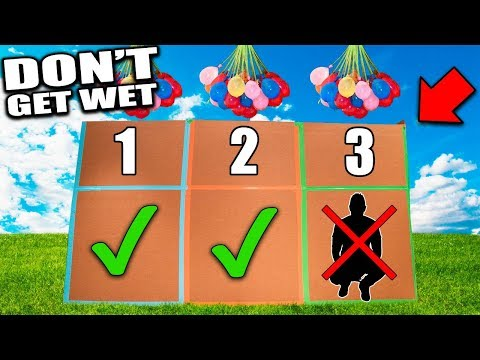 WET THE PERSON IN THE BOX!  Box Fort Water Balloon Challenge
