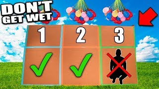 WET THE PERSON IN THE BOX! 📦💦 Box Fort Water Balloon Challenge