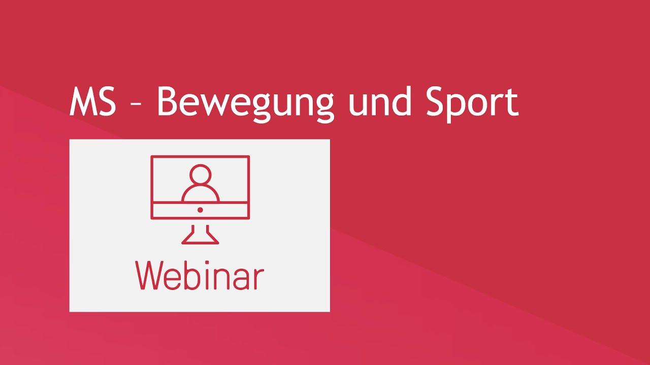 Webinar: MS – Bewegung und Sport