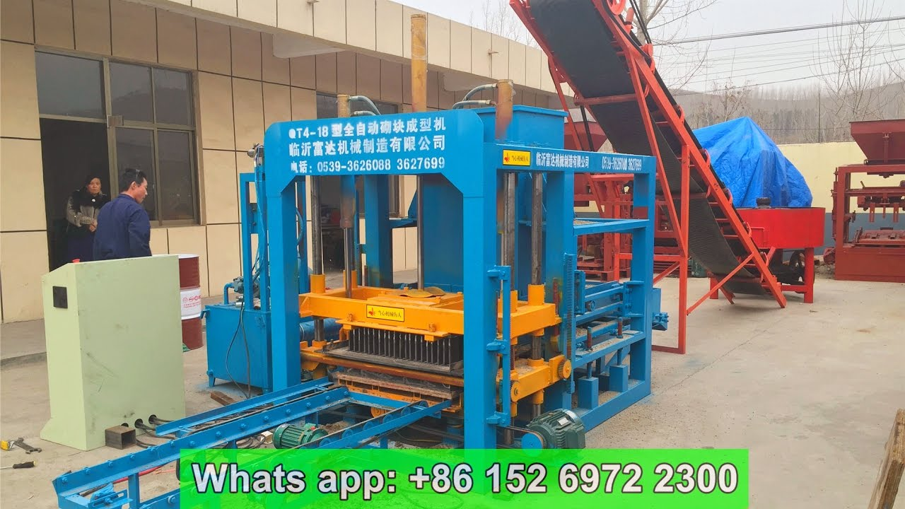 Cement Block Plant Machines : Qt hydraulic cement brick production plant concrete
