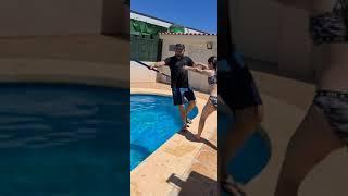 Broma a papá *Primer día de piscina #shorts