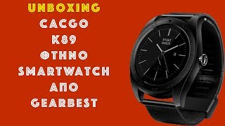 cacgo k89 smart watch από gearbest unboxing mini review greek