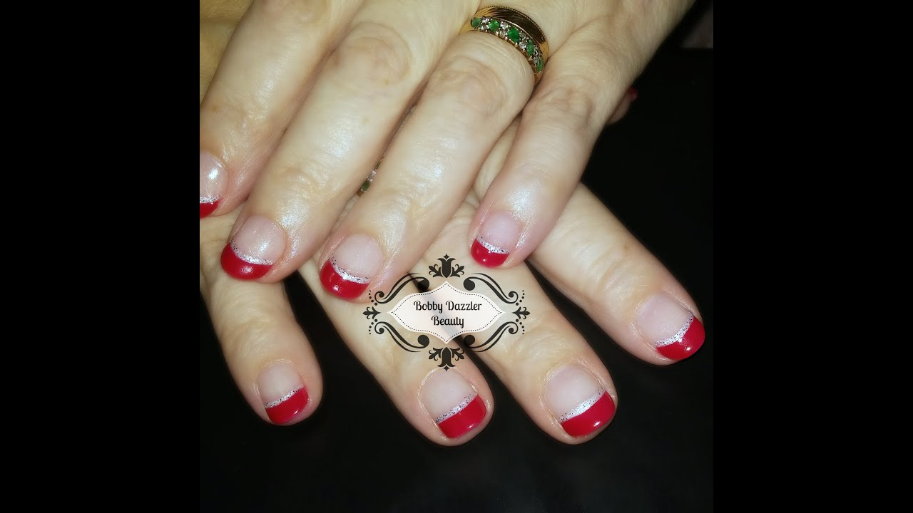Nail Art Christmas French Gel Nail Polish Youtube