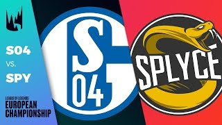 S04 vs SPY, Game 3 - LEC 2019 Regional Finals Round 2 - Schalke 04 vs Splyce G3