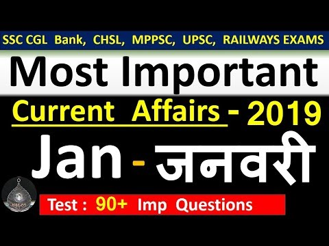 Current affairs : January 2019 | Important current affairs 2019 |  latest current affairs Quiz