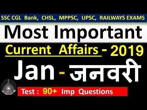 Current Affairs : January 2019 | Important Current Affairs 2019 |  Latest Current Affairs Quiz