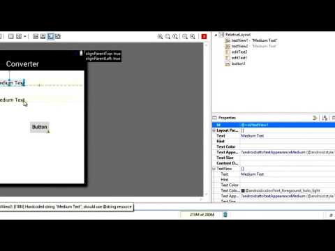 ANDROID TUTORIAL Making a Simple Converter App