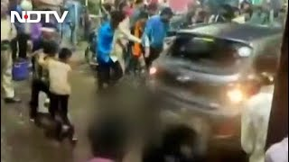 Video: Speeding Car Drives Into Crowd Amid 'Durga Puja Visarjan' In Bhopal