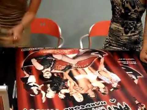 WIcked Pictures JESSICA DRAKE Kaylani Lei Alektra Blue signing #4 @ Hustler Hollywood Oct 26, 2011