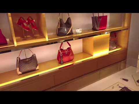 Shopping Inside the high-end Waterside Shops - Naples, Florida