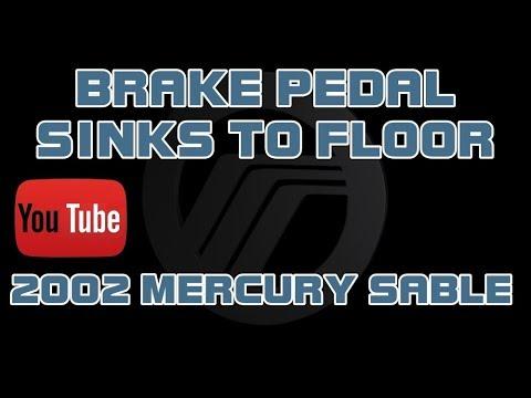⭐ 2002 Mercury Sable - Brake Pedal Goes To Floor - Brake Pedal Fade