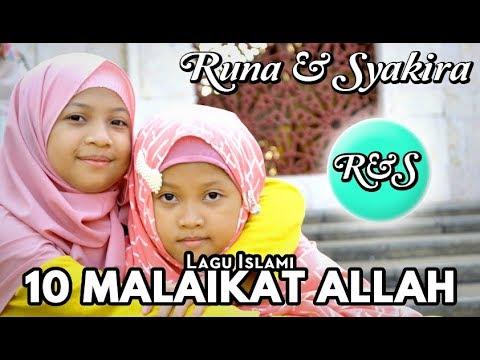 Lagu 10 MALAIKAT ALLAH - Runa Syakira  [ Official Music Video ]