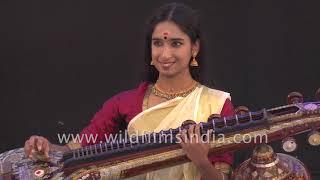 Anaghashree Sajeevnath plays Carnatic music on Veena