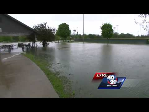 Storms cause flooding at Veterans Park in Rogers