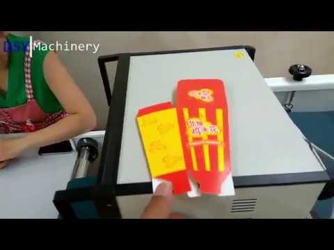 Folding Gluing For Fried Chicken Packaging Boxes(KFC Popcorn Chicken)