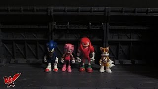 Sonic Boom Sonic & Amy, Knuckles & Tails 2 pack set (Tomy) action figure review