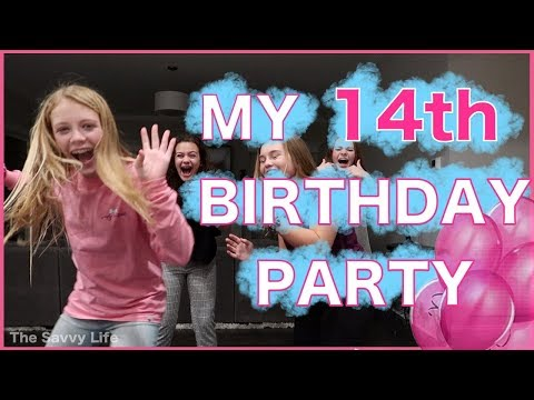My 14th Birtay Party SLEEPOVER PARTY