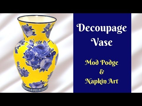 DIY Decoupage Vase | How To Tutorial