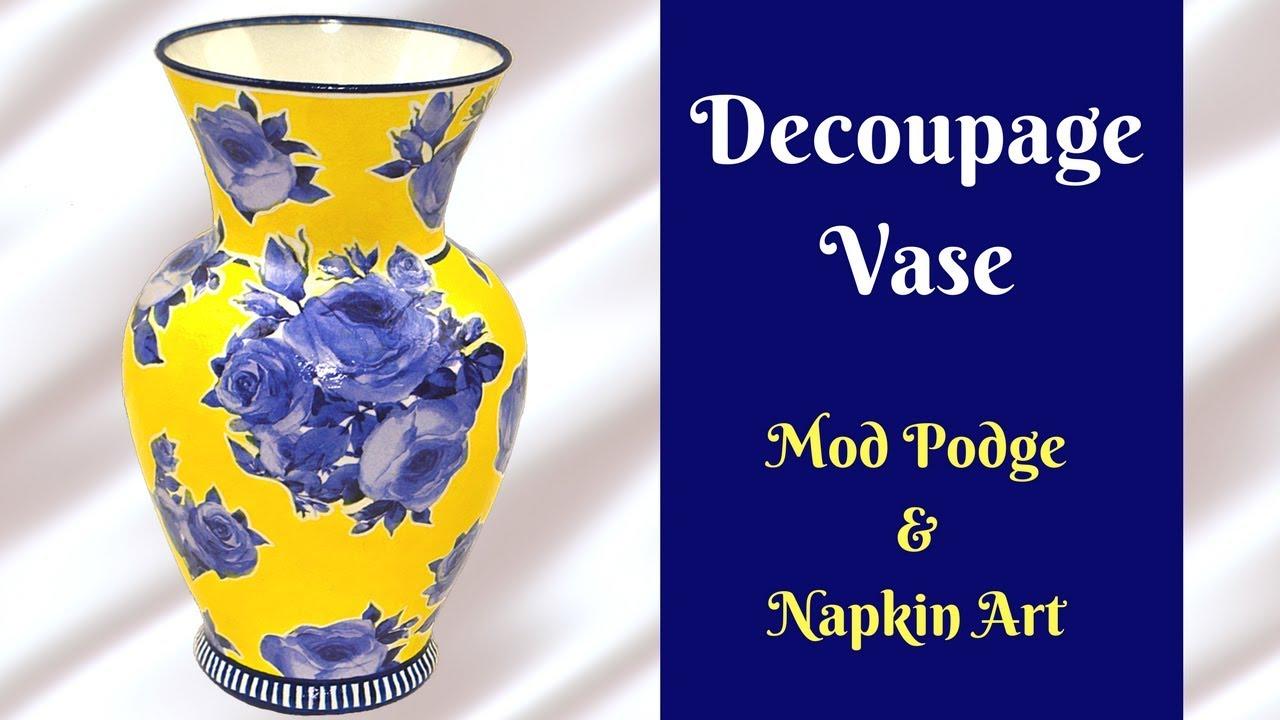 DIY Decoupage Vase