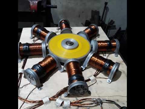 07 (Motor Bedini) energizer 8 coil 6.50 AH 12V - YouTube