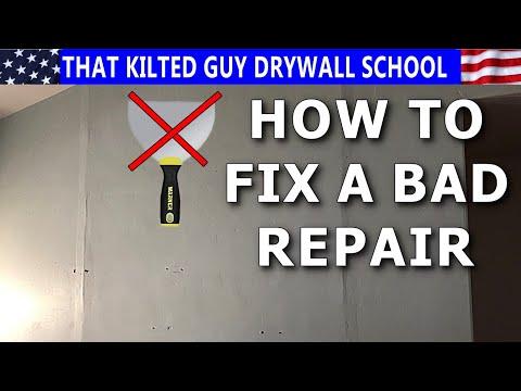 How to Fix a BAD Drywall Repair Job
