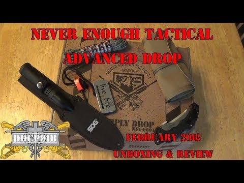 Never Enough Tactical - February 2018 Advanced Drop Unboxing