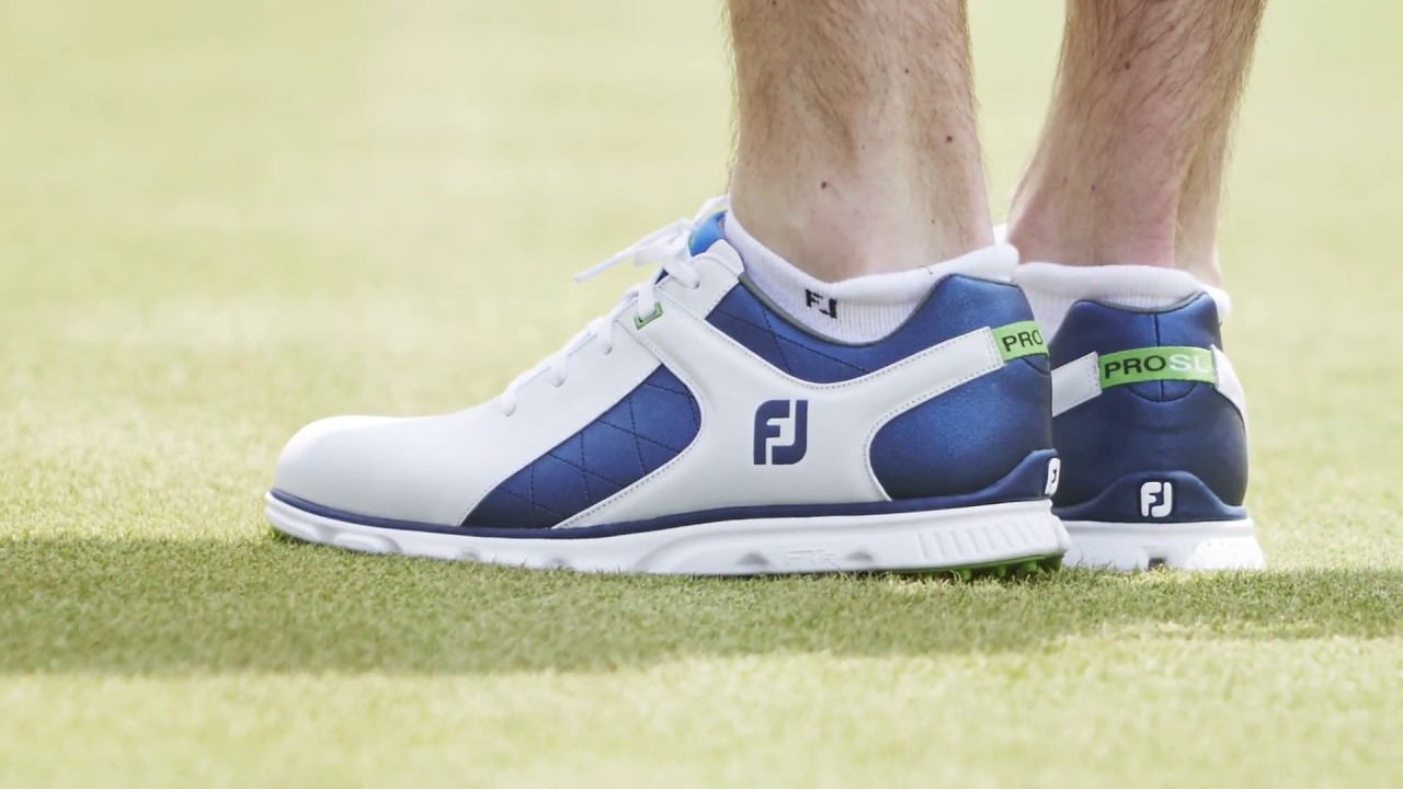 superior quality good texture nice cheap FootJoy Pro SL Golf Shoes at the 2017 PGA Show