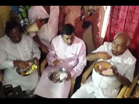 Karnataka: Row after state chief  Yedyyurappa eats hotel food at Dalit's house, BJP defe