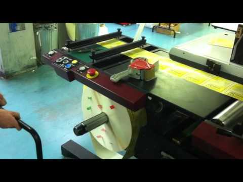Mark Andy VSR300D - Slitter rewinder with die cutting.mov